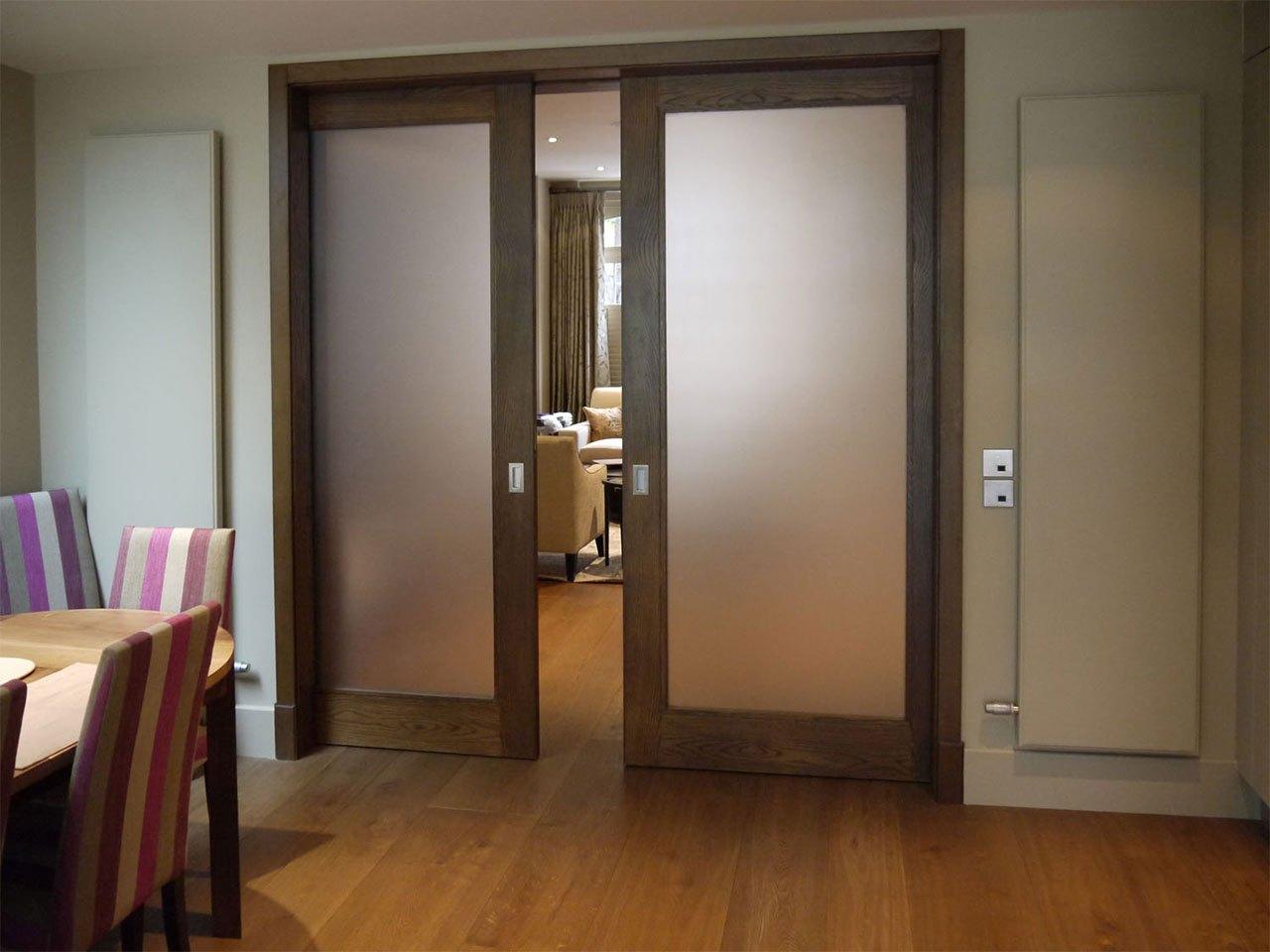 Двустворчатые двери раздвижные