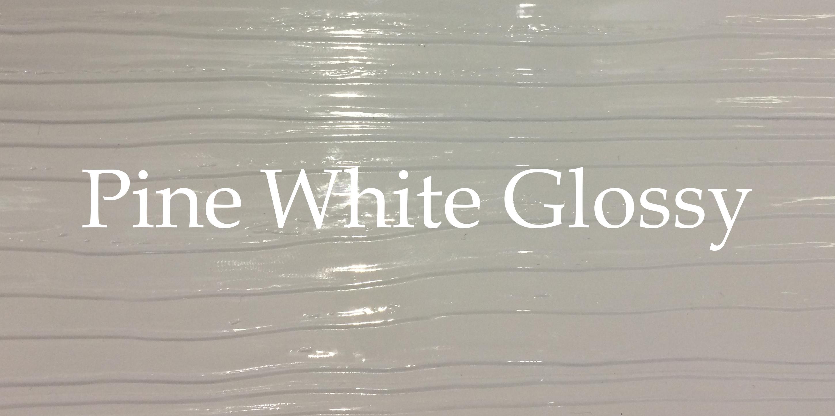 pine white glossy