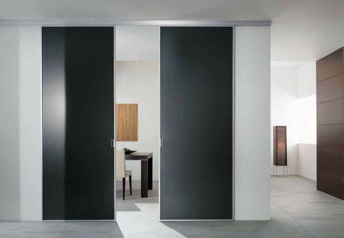 что двери в стиле минимализм хай тек пол