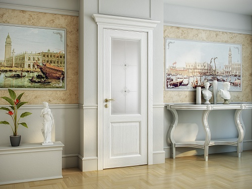 Двери с капителью в интерьере фото