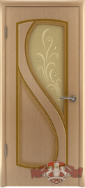 "Межкомнатная дверь ""Грация"", по, дуб светлый"