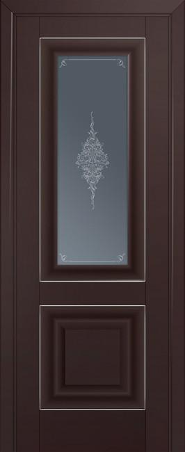 Фото -   Межкомнатная дверь 28U, темно-коричневый матовый   | фото в интерьере
