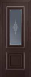 Межкомнатная дверь 28U, темно-коричневый матовый