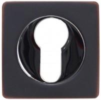 Фото -   Накладка на цилиндр Vantage, ET02BL черный с патиной   | фото в интерьере
