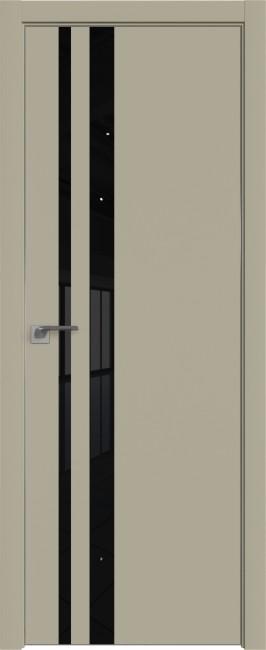Фото -   Межкомнатная дверь 16E, Шеллгрей, кромка ABS, черная, Экспорт   | фото в интерьере