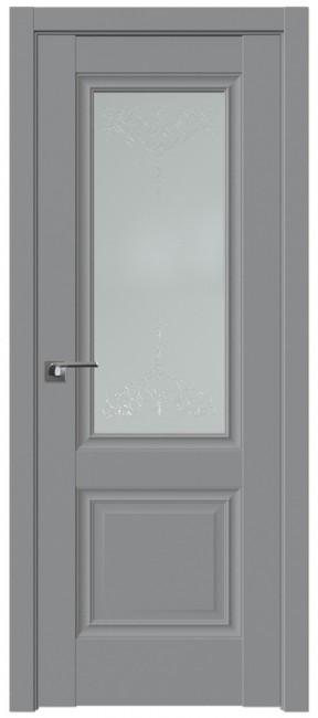 """Фото -   Межкомнатная дверь 2.37U, стекло """"Франческо"""", манхеттен     фото в интерьере"""