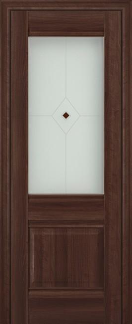 """Межкомнатная дверь """"2х"""", по, орех сиена"""
