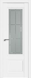Фото -   Межкомнатная дверь 2.103U, аляска, ст. гравировка 1     фото в интерьере