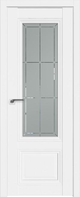 Фото -   Межкомнатная дверь 2.109U, аляска, ст. матовое     фото в интерьере