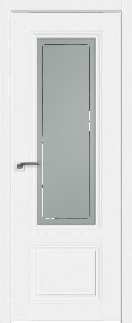 Фото -   Межкомнатная дверь 2.103U, аляска, ст. гравировка 4     фото в интерьере
