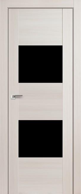 """Межкомнатная дверь """"21X"""", черный лак, эш вайт мелинга"""