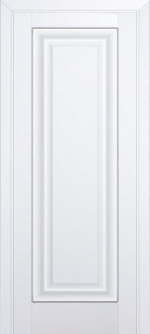 Фото -   Межкомнатная дверь 23U, молдинг серебро, аляска   | фото в интерьере