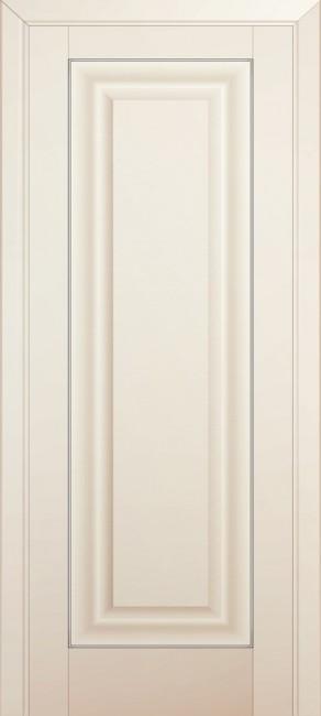 Фото -   Межкомнатная дверь 23U, молдинг золото, магнолия сатинат   | фото в интерьере