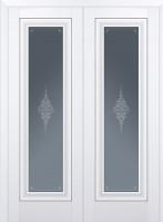 Межкомнатная дверь 24U, молдинг серебро ст.кристалл матовое, аляска
