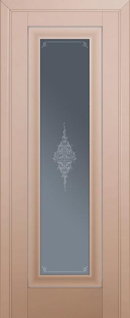 Межкомнатная дверь 24U, капучино сатинат