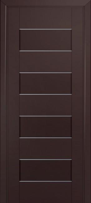 Межкомнатная дверь 45U, темно-коричневый матовый