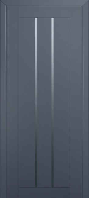 Фото -   Межкомнатная дверь 49U, антрацит   | фото в интерьере