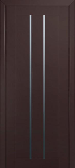 Фото -   Межкомнатная дверь 49U, темно-коричневый матовый   | фото в интерьере