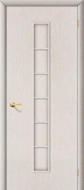 "Межкомнатная дверь ""Лесенка"", пг, беленый дуб"