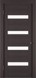 Фото -   Межкомнатная дверь Zadoor ПО ECO 5 Венге   | фото в интерьере