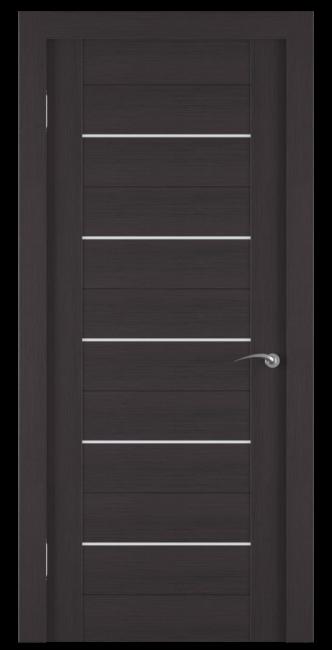 Фото -   Межкомнатная дверь Zadoor ПО ECO 6 Венге   | фото в интерьере