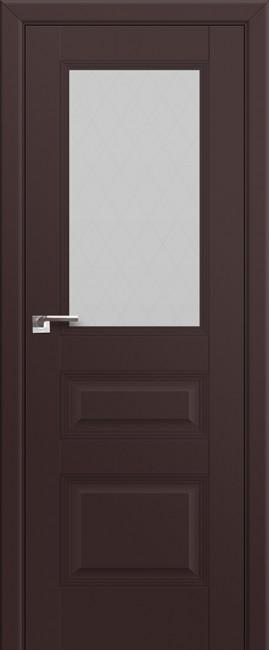 Межкомнатная дверь 67U, темно-коричневый матовый