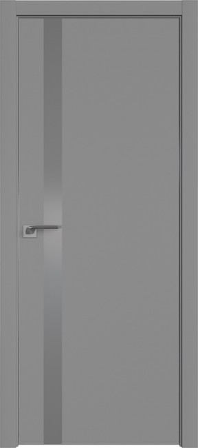 "Фото -   Межкомнатная дверь ""6 Е"", манхеттен, мат. с 4-х сторон   | фото в интерьере"
