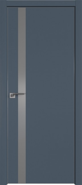 """Межкомнатная дверь """"6 Е"""", антрацит"""