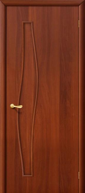 """Фото -   Межкомнатная дверь """"Волна"""", пг, итальянский орех     фото в интерьере"""