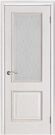 "Межкомнатная дверь ""Шервуд"", стекло ""Роса"", белая патина"