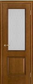 """Межкомнатная дверь """"Шервуд"""", стекло """"Роса"""", античный дуб"""