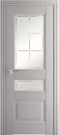 Фото -   Межкомнатная дверь 94X, по, Пекан белый гравировка 1   | фото в интерьере