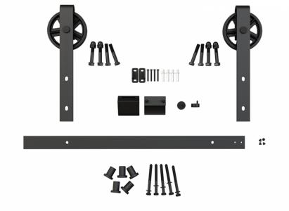Фото -   Комплект для раздвижной двери амбарного типа Лофт А-1     фото в интерьере