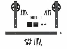 Фото -   Комплект для раздвижной двери амбарного типа Лофт А-1   | фото в интерьере