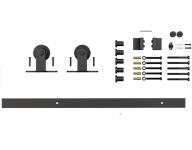 Фото -   Комплект для раздвижной двери амбарного типа Лофт А-4     фото в интерьере