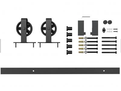 Фото -   Комплект для раздвижной двери амбарного типа Лофт А-5   | фото в интерьере