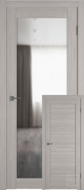 "Фото -   Межкомнатная дверь ""Атум PRO Х32"", зеркало, Stone Oak     фото в интерьере"