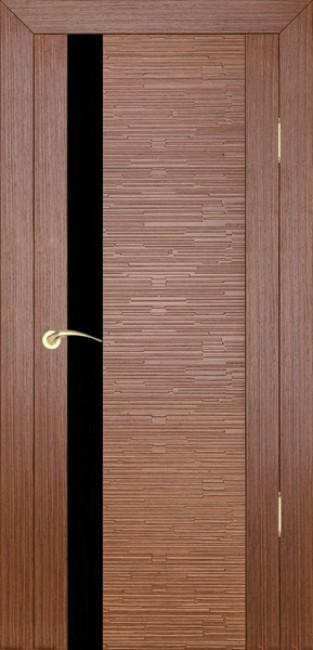 """Фото -   Межкомнатная дверь """"Д4 техно"""", по, орех     фото в интерьере"""