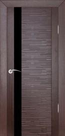 """Фото -   Межкомнатная дверь """"Д4 техно"""", по, венге     фото в интерьере"""