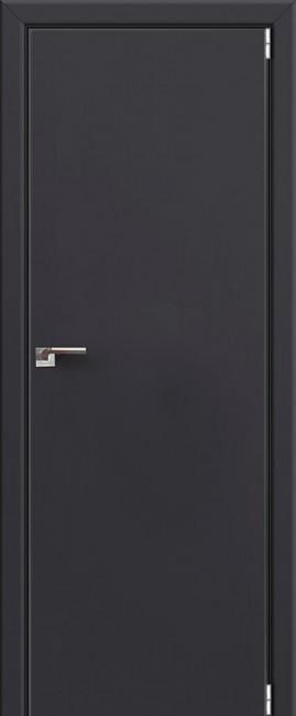 """Межкомнатная дверь """"1 Е"""", антрацит, мат. с 4 сторон"""