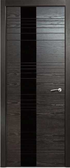 Фото -   Межкомнатная дверь Мильяна ID HL, по, неро   | фото в интерьере