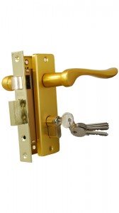 Комплект дверной, золото, 1 ригель