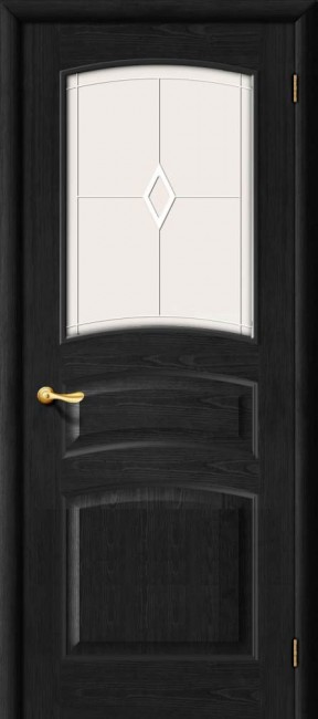 Фото -   Межкомнатная дверь М 16, по, венге   | фото в интерьере