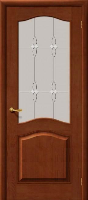 Фото -   Межкомнатная дверь М 7, по, светлый лак   | фото в интерьере