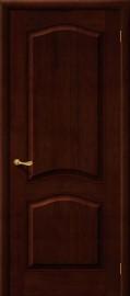 Фото -   Межкомнатная дверь М 7, пг, темный лак   | фото в интерьере
