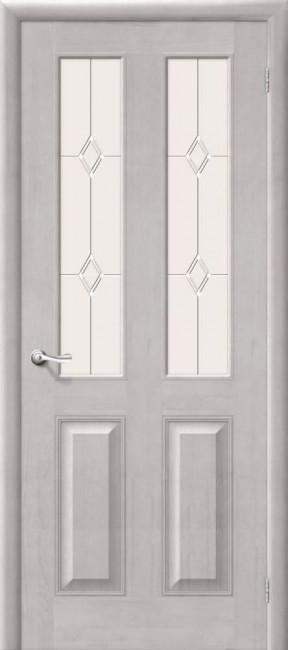 Фото -   Межкомнатная дверь М 15, по, белый воск   | фото в интерьере