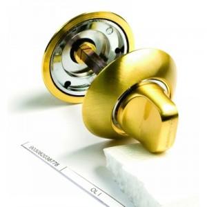 Фото -   Фиксатор сантехнический Archie OL I, матовое золото   | фото в интерьере
