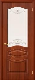 """Межкомнатная дверь ПВХ """"Модена"""", по, итальянский орех"""