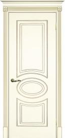 """Межкомнатная дверь """"СМАЛЬТА 03"""", пг, слоновая кость, патина золото"""