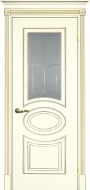 """Межкомнатная дверь """"СМАЛЬТА 03"""", по, слоновая кость, патина золото"""